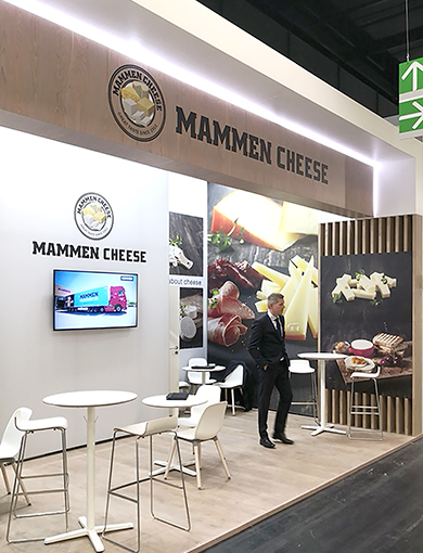 Mammen Cheese Flot messestand, Anufa FoodTec 2019, Køln