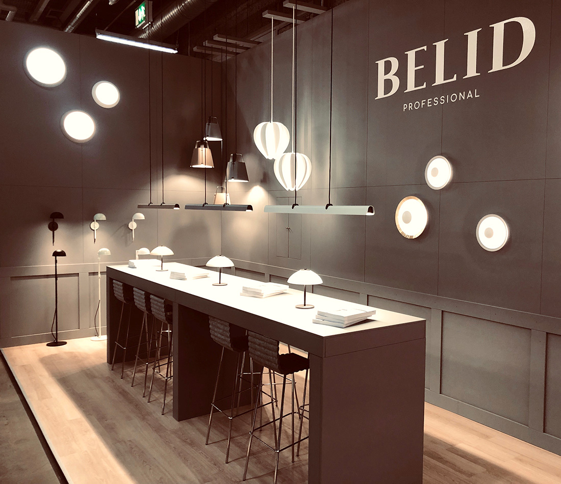 Flot messestand, Herstal - Belid, Stockholm Furniture & Light Fair 2019