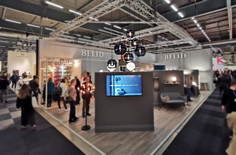 Herstal - Belid Messestand, Stockholm Furniture & Light Fair 2020