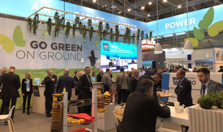 Messestand, ITW GSE, Inter Airport 2019, München, fællesstande til messer