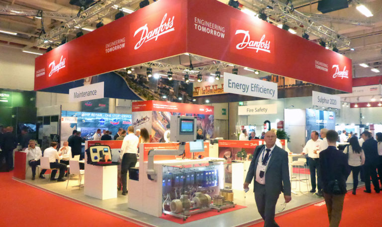 Danfoss messestand SMM 2018, Hamburg